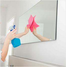 Pose de miroir à Reims